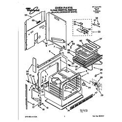 RS696PXYB Electric Range Oven Parts diagram