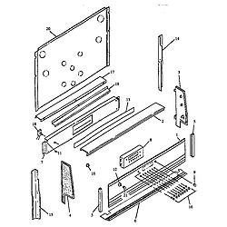 RSF3400UL Gas Range Backguard Parts diagram