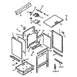 RSF3400UL Gas Range Cabinet assembly Parts diagram