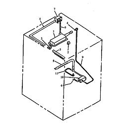 RSF3400UL Gas Range Gas components Parts diagram