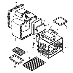 RSF3400UL Gas Range Oven assembly Parts diagram