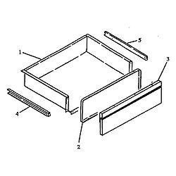 RSK3700UWW Gas Range Storage drawer assembly Parts diagram