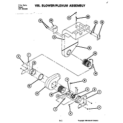 S120 Range Blower assembly Parts diagram