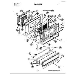 S120 Range Door (s120) Parts diagram