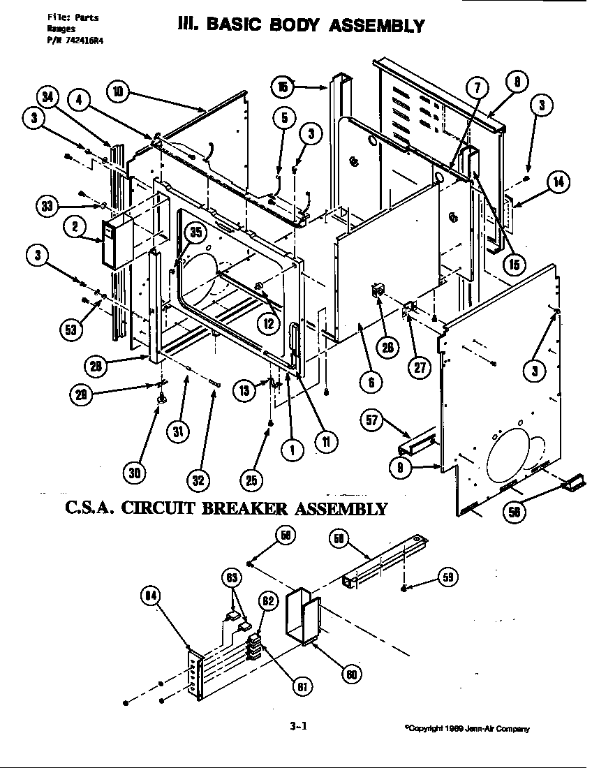 S120C Range Basic body assembly (s120-c) (s120-c) Parts. Oven Parts diagram