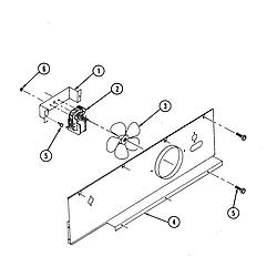 S136C Range Blower motor (cooling) Parts diagram