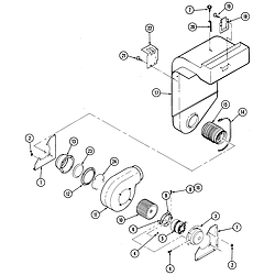 S136C Range Blower motor Parts diagram