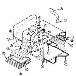 S136C Range Liner Parts diagram