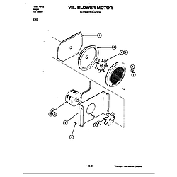 S161 Electric Slide-In Range Blower motor (convection) Parts diagram