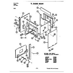 S161 Electric Slide-In Range Body Parts diagram