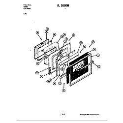 S161 Electric Slide-In Range Door Parts diagram