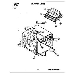 S161 Electric Slide-In Range Liner Parts diagram