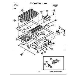 S161 Electric Slide-In Range Top Parts diagram