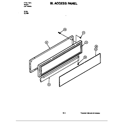 S176 Electric Slide-In Range Access panel (s176) Parts diagram
