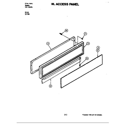 S176 Electric Slide-In Range Access panel (s176w) (s176w) Parts diagram