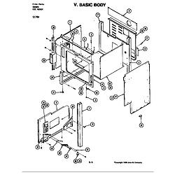S176 Electric Slide-In Range Basic body (s176w) (s176w) Parts diagram