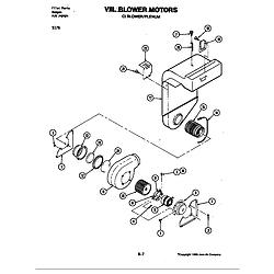 S176 Electric Slide-In Range Blower motor (blower/plenum) (s176) Parts diagram
