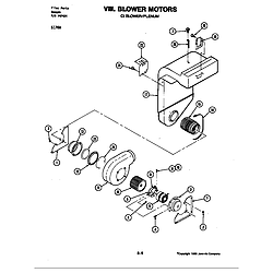 S176 Electric Slide-In Range Blower motor-blower/plenum (s176w) (s176w) Parts diagram
