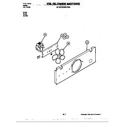 S176 Electric Slide-In Range Blower motor-cooling fan (s176w) (s176w) Parts diagram