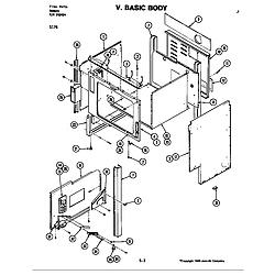 S176 Electric Slide-In Range Body (s176) Parts diagram