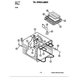 S176 Electric Slide-In Range Oven liner (s176w) (s176w) Parts diagram