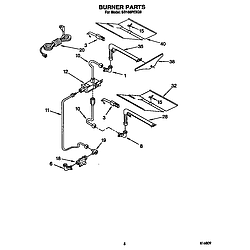 SB160PEXB1 Built In Gas Oven Burner Parts diagram