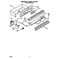 SB160PEXB1 Built In Gas Oven Control panel Parts diagram