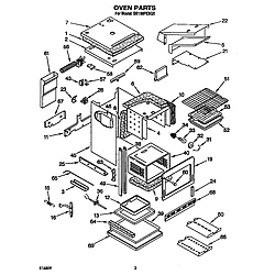 SB160PEXB1 Built In Gas Oven Oven Parts diagram