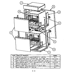 SC272T Built-In Electric Oven Oven assembly Parts diagram