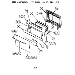 SC302 Built-In Electric Oven Door components (s272t) (sc272t) (scd272t) Parts diagram