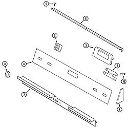 SCE30600B Electric Slide-In Range Control panel Parts diagram