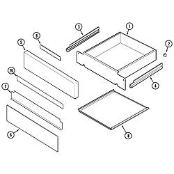 SCE30600B Electric Slide-In Range Drawer Parts diagram