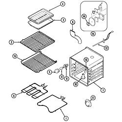 SCE30600B Electric Slide-In Range Oven Parts diagram