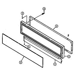 SEG196W Slide-In Range Access panel (wht) (seg196w) (seg196w-c) Parts diagram
