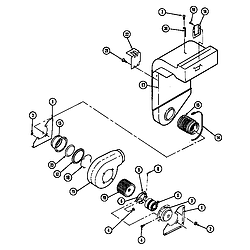 SEG196W Slide-In Range Blower motor-blower/plenum Parts diagram