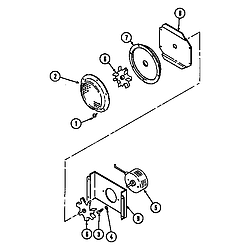 SEG196W Slide-In Range Blower motor-convection Parts diagram