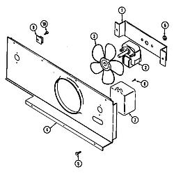SEG196W Slide-In Range Blower motor-cooling Parts diagram