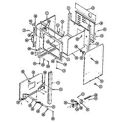 SEG196W Slide-In Range Body (seg196) (seg196-c) Parts diagram