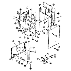 SEG196W Slide-In Range Body (wht) (seg196w) (seg196w-c) Parts diagram