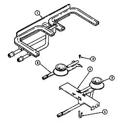 SEG196W Slide-In Range Burner/manifold assembly (seg196) (seg196-c) Parts diagram