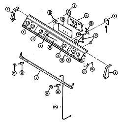 SEG196W Slide-In Range Control panel (seg196) (seg196-c) Parts diagram
