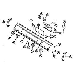 SEG196W Slide-In Range Control panel (wht) (seg196w) (seg196w-c) Parts diagram