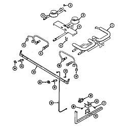 SEG196W Slide-In Range Gas controls (wht) Parts diagram