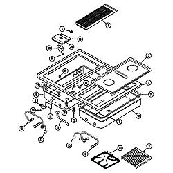 SEG196W Slide-In Range Main top (seg196) (seg196-c) Parts diagram