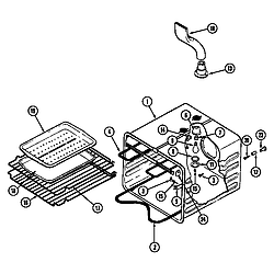 SEG196W Slide-In Range Oven liner (wht) (seg196w) (seg196w-c) Parts diagram