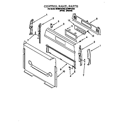 SF385PEE Free Standing Gas Range Control panel Parts diagram