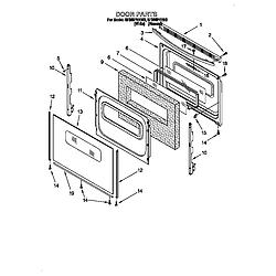 SF385PEE Free Standing Gas Range Door Parts diagram