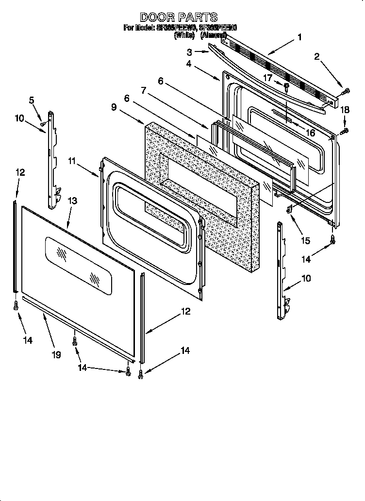 Whirlpool Gas Stove Parts Diagram