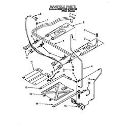 SF385PEE Free Standing Gas Range Manifold Parts diagram