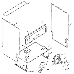 SMU7052UC14 Dishwasher Body Parts diagram